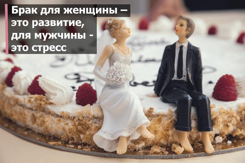 Брак для женщины – это развитие, для мужчины — это потрясение